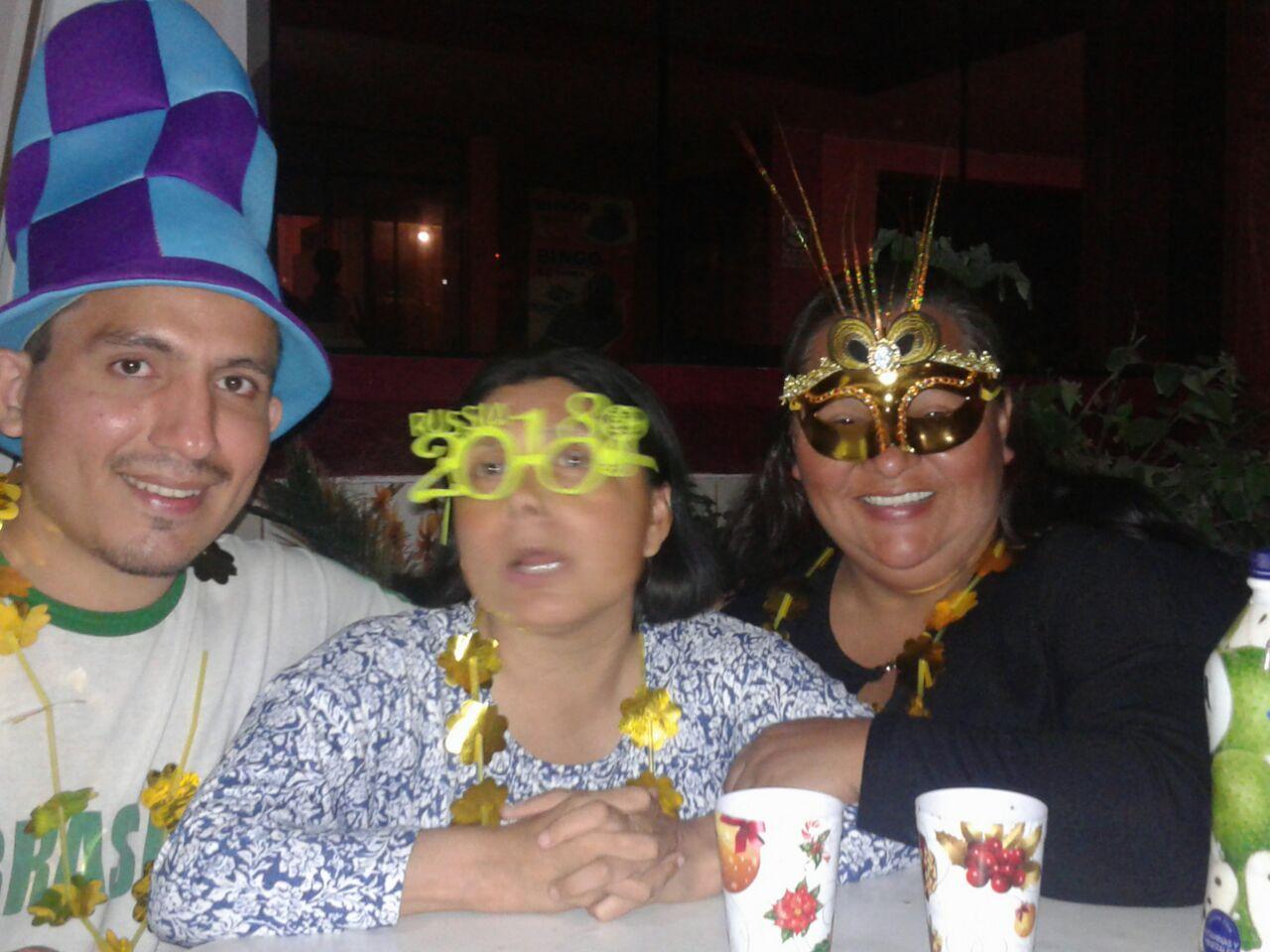Celebramos el año nuevo en la casa, todos la pasaron super!!!