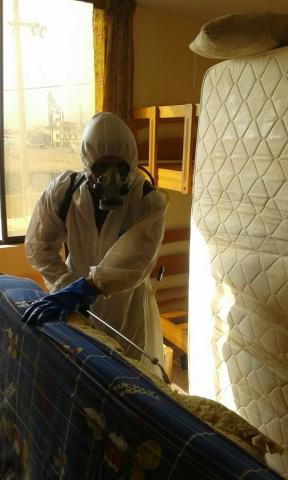 campaña de fumigación en la casa de reposo